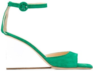 BY FAR Dima 100mm square-toe sandals