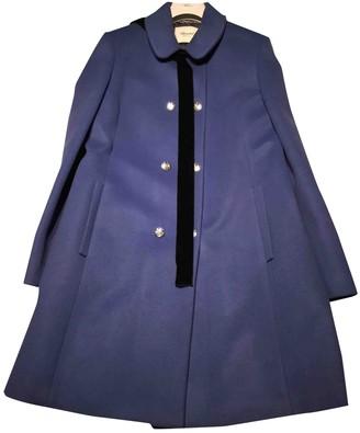 Blumarine Blue Wool Coat for Women