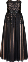 City Chic Embroidered Tulle Maxi Dress