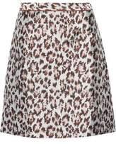 Christopher Kane Leopard-Jacquard Mini Skirt