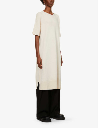The Row Abini wool and cashmere-blend mini dress