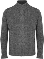 Corneliani Grey Wool And Cashmere Blend Cardigan