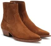 Saint Laurent Lukas 40 suede ankle boots