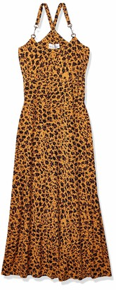 Donna Morgan Women's Spaghetti Strap Animal Print Maxi Dress