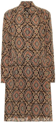 A.P.C. Printed silk shirt dress