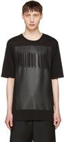 Helmut Lang Black Glitch Logo T-shirt