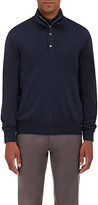 Barneys New York MEN'S FINE-GAUGE ZIP-FRONT SWEATER