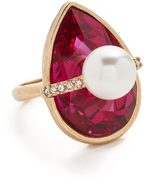 Oscar de la Renta Teardrop Crystal Ring