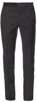 Brioni Montana Slim-leg Micro-checked Wool Trousers