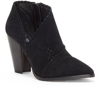 Vince Camuto Lamorna Whipstitched Perforated Ankle Boot