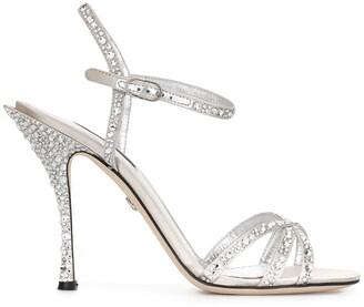 Dolce & Gabbana Rhinestone-Embellished Multi-Strap Sandals