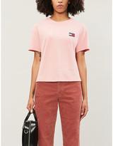 Tommy Jeans Logo-applique cotton-jersey T-shirt