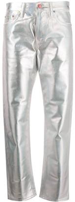 Acne Studios 1997 Holographic Foil straight-leg jeans