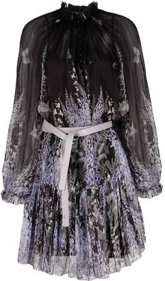 Zimmermann Floral-Print Tie-Wait Dress