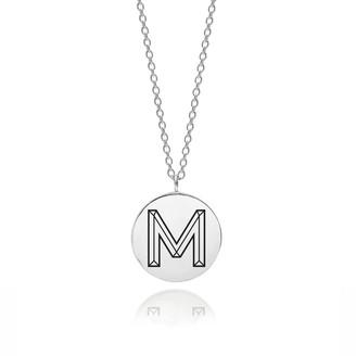 Myia Bonner Sterling Silver Facett Initial M Pendant