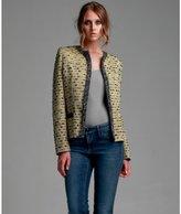 M Missoni yellow wool blend tweed jacket