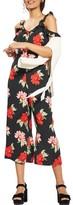 Topshop Women's Floral Ruffle Jumpsuit