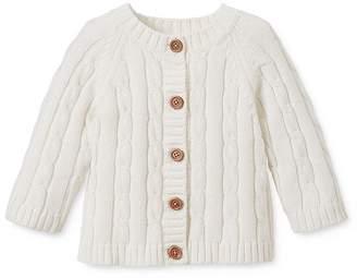 Elegant Baby Unisex Cable-Knit Sweater & Beanie Gift Set - Baby