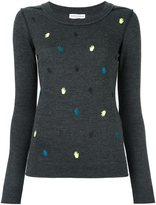 Sonia Rykiel embroidered hand jumper