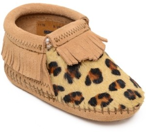 Minnetonka Baby Girls Leopard Riley Bootie