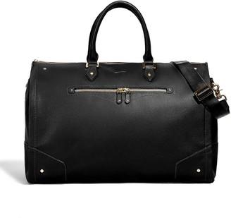 hook + ALBERT Hook & Albert Womens Black Leather Garment Weekender Bag