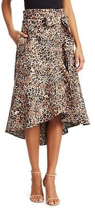 Johanna Ortiz Cynical Attitude Leopard Print Wrap Skirt