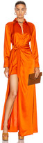 Cinq à Sept Maddy Gown in Blood Orange | FWRD