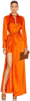 Cinq à Sept Maddy Gown in Blood Orange   FWRD