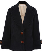 See by Chloe Single-breasted Wool-blend Peacoat - Midnight blue