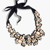 J.Crew Frost crystal bib necklace
