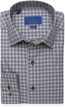 David Donahue Fusion Regular Fit Check Dress Shirt