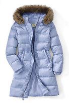 Classic Little Girls Fashion Down Coat-Zesty Orange