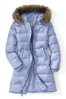 Lands' End Little Girls Fashion Down Coat-Zesty Orange