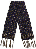 Dries Van Noten Silk Studded Scarf