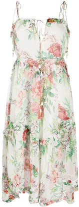 Zimmermann Floral Print Frill-Trimmed Dress