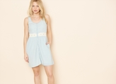 Garage Clear Blue Dress With Crochet