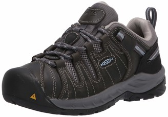 Keen Women's Flint II Low Soft Toe Non Slip Work Shoe Construction Shoe Steel Grey/Paloma