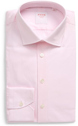 Thomas Pink Slim Fit Stretch Poplin Dress Shirt