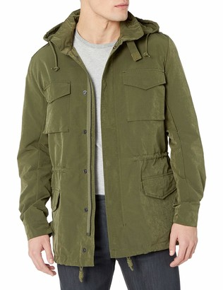 French Connection Men's Wax Sanded Military Green Jacket