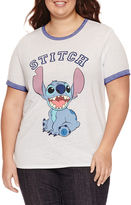Freeze Short Sleeve Crew Neck Lilo & Stitch Graphic T-Shirt
