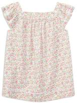 Ralph Lauren Girls' Cotton Poplin Floral Top - Big Kid