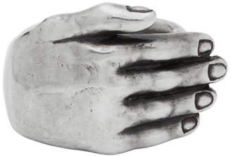 Ann Demeulemeester Silver Hand Ring
