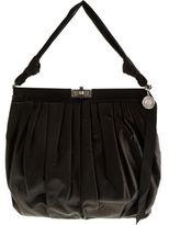 Draped Satin Frame Bag- BLACK
