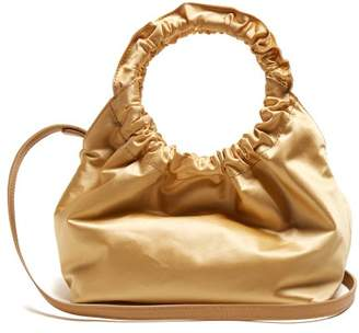 The Row Double Circle Small Satin Bag - Womens - Gold