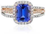 Effy Jewelry Effy Gemma 14K White and Rose Gold Tanzanite and Diamond Ring, 1.80 TCW