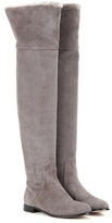Gray Suede Over The Knee Boots - ShopStyle