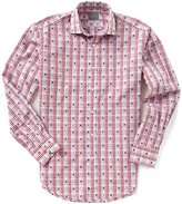 Thomas Dean Coupe Check Long-Sleeve Woven Shirt