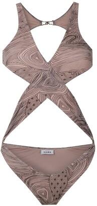 AMIR SLAMA Crisscross Straps Swimsuit