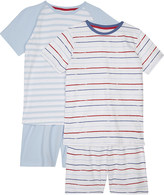The Little White Company Mariner stripe cotton pyjamas pack of two 6-12 years