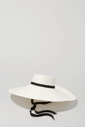 Sensi Studio - Grosgrain-trimmed Toquilla Straw Hat - White